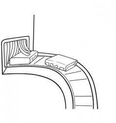baggage claim vector image