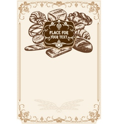 bakery poster vector image vector image
