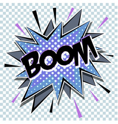 cartoon comic graphic design for explosion blast vector image