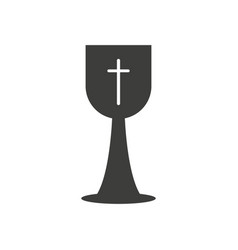 christian cup icon vector image