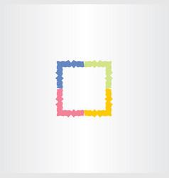 colorful frame box icon symbol vector image