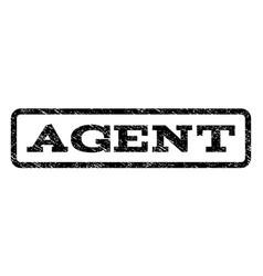 agent watermark stamp vector image