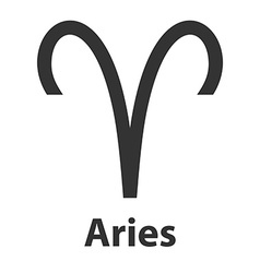 Aries ram zodiac sign icon vector image vector image