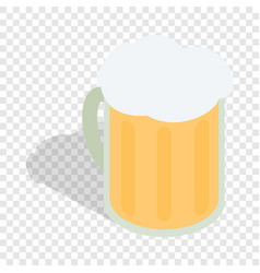 beer mug isometric icon vector image