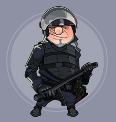 cartoon man in the form of special forces in body vector image vector image