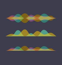 color set of sound waves equalizer design vector image vector image