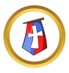 Medieval banner icon cartoon style vector image