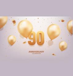 90th anniversary celebration vector