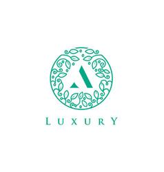 a letter logo luxurybeauty cosmetics logo vector image