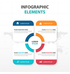 Abstract colorful text box business infographics vector