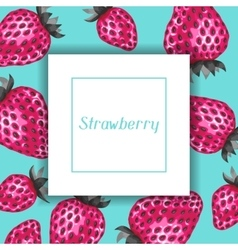 Abstract frame with strawberries in a pop art vector image