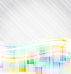 Abstract squares backdrop for design business card vector image