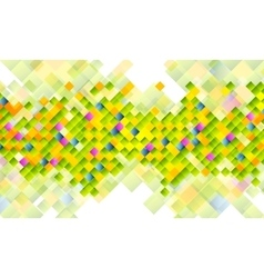 Abstract tech background with colorful squares vector