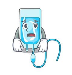 Afraid infussion bottle mascot cartoon vector
