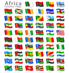 African national flag set vector
