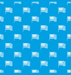 american flag pattern seamless blue vector image