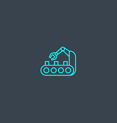 automation concept blue line icon simple thin vector image