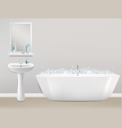 bathroom interior realistic vector image