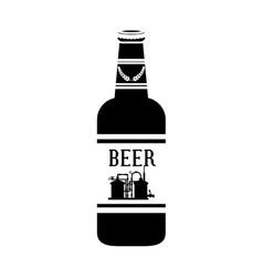 Black bottle of beer icon design vector