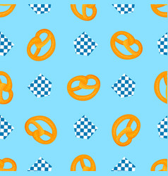 bretzel and decorative flag traditional german vector image