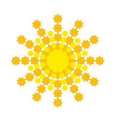 bright abstract sun with yellow-orange rays vector image