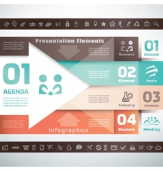 Business infographics and presentation template vector