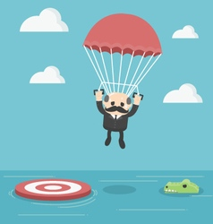 Businessman with parachute vector image