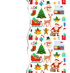 Colorful christmas pattern vector