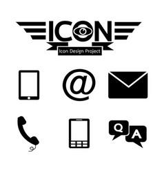 contact button icon vector image