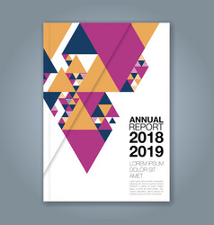 cover annual report 1129 vector image