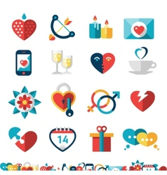 Dating Icon Set vector image