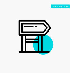 direction board location motivation turquoise vector image