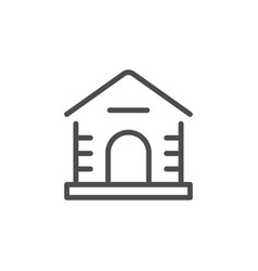dog house line icon vector image