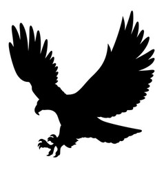 Eagle silhouette 004 vector