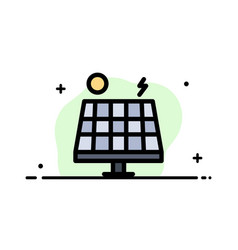 energy environment green solar business flat line vector image