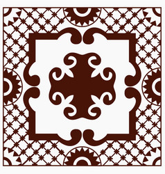 ethnic motives vintage traditional ceramic tile vector image