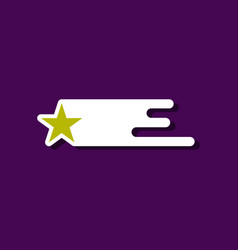 Flat icon design collection star in space vector