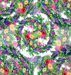 Floral and decorative frame design vector image
