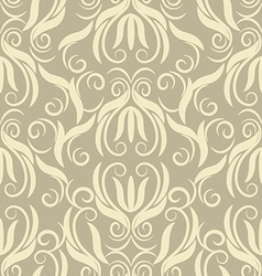 floral beige seamless pattern vector image