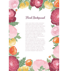 gorgeous floral background with colorful blooming vector image vector image