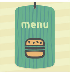 Hamburger fast food icon modern infographic logo vector