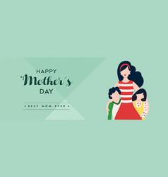 happy mother day children love banner vector image