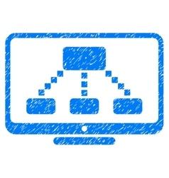Hierarchy Monitor Grainy Texture Icon vector image