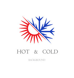 hot and cold wallpaper vector image