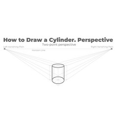 How to draw a cylinder vector