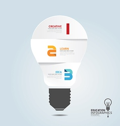 Infographic Template with Light bulbs paper cut vector