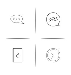 Internet of things simple linear icon setsimple vector