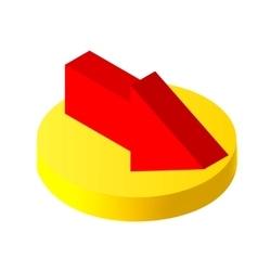 Isometric icons 3D arrow Pictograms arrow vector image