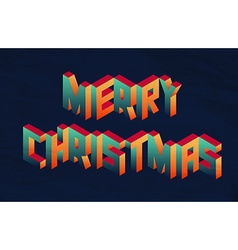 Isometric Merry Christmas quote background vector