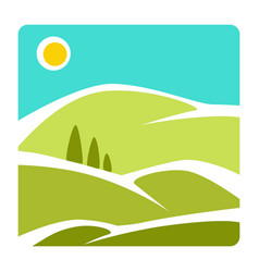 landscape isolated icon corporate identity hills vector image